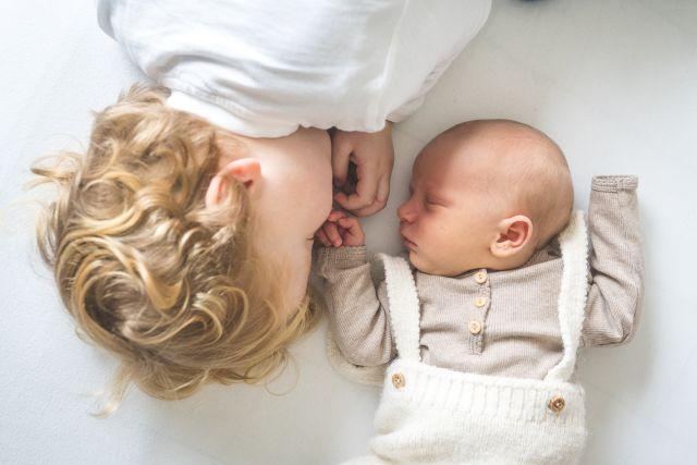 Geschwisterbilder, Babyfotos